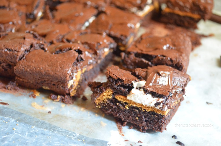 thenotsocreativecook-S'moresBrownies2