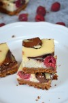 Rasberry Nutella Swirl Cheesecake Bars @The Not So Creative Cook