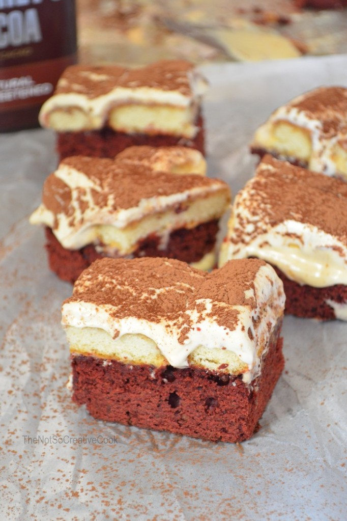 Red Velvet Tiramisu Brownies @ The Not So Creative Cook