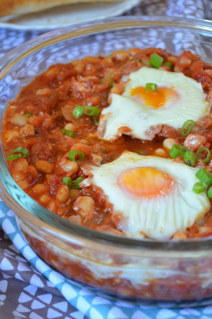 Spicy Baked Beans & Eggs 3