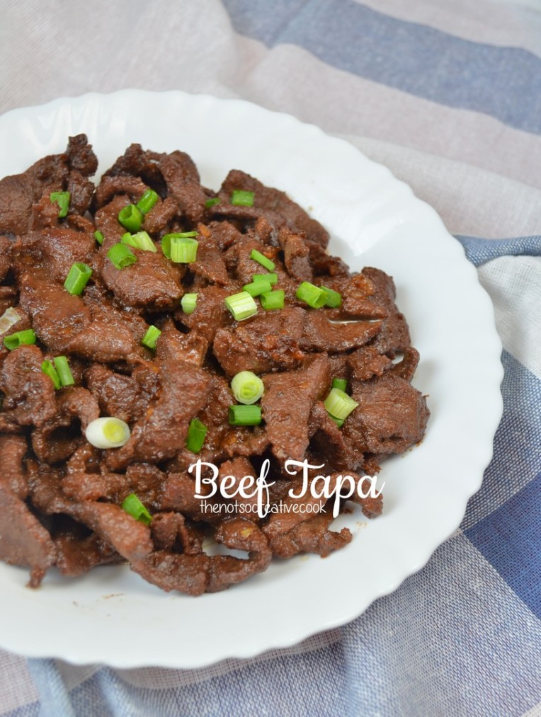 Beef Tapa - The Not So Creative Cook