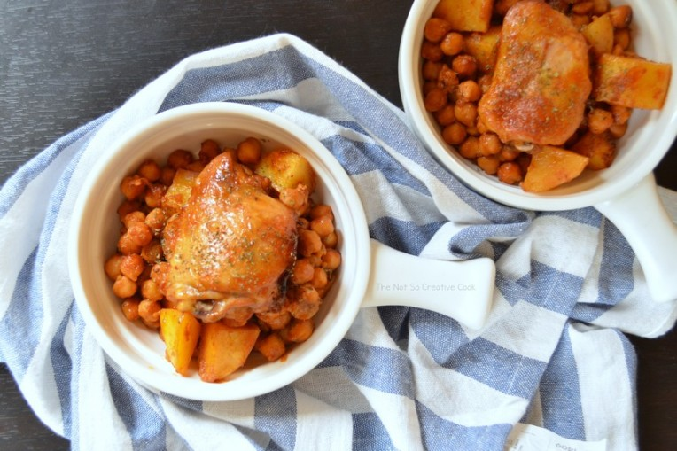 Extraordinary Roasted Chicken, Potatoes and Chickpeas - The Not So Creative Cook 2