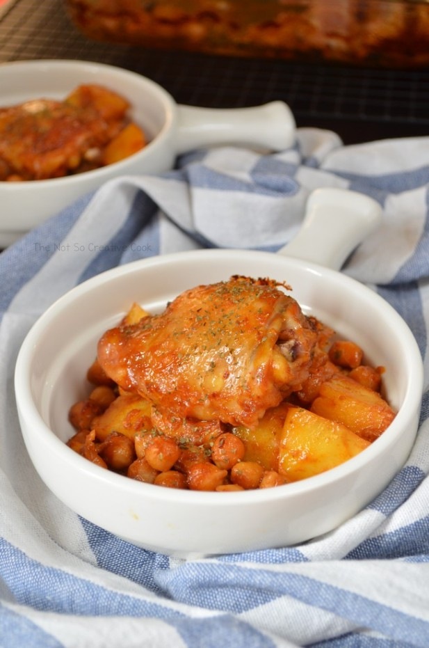 Extraordinary Roasted Chicken, Potatoes and Chickpeas - The Not So Creative Cook 3