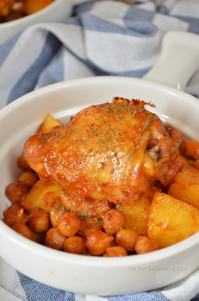 Extraordinary Roasted Chicken, Potatoes and Chickpeas - The Not So Creative Cook 4