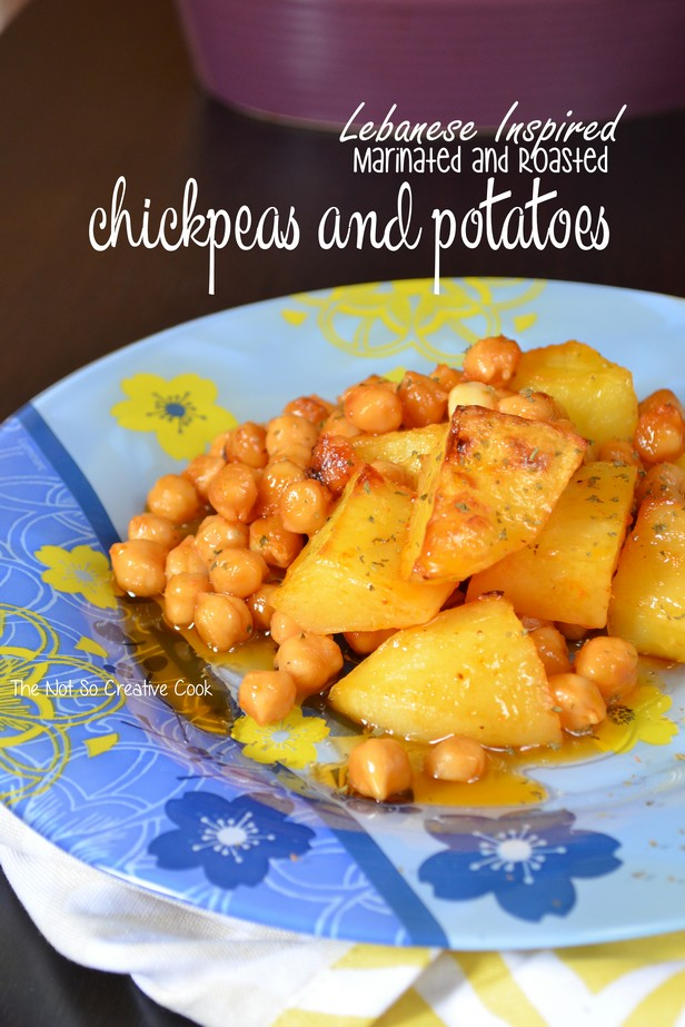 Lebanese Inspired Marinated Chickpeas & Potatoes - The Not So Creative Cook 2