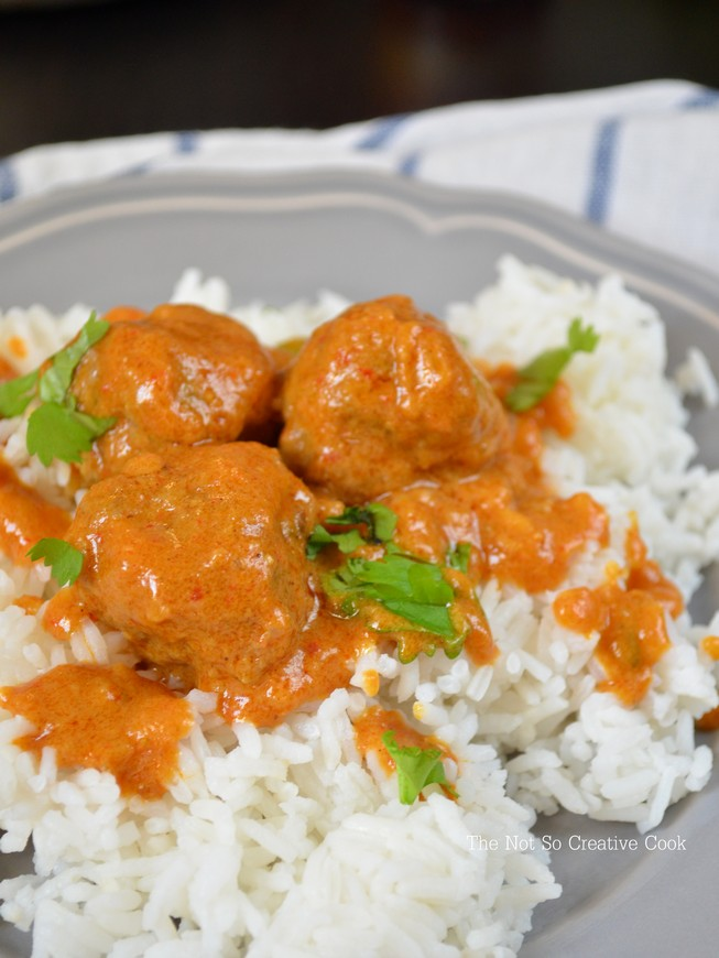 Meatballs in Nutty Coconut Curry Sauce - TNSCC 4