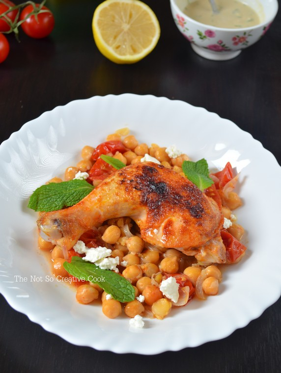 Harissa Roast Chicken with Chickpeas - TNSCC 1