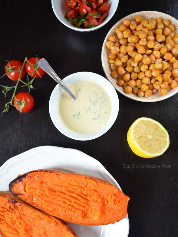 Mediterrenean Baked Sweet Potatoes - TNSCC 1