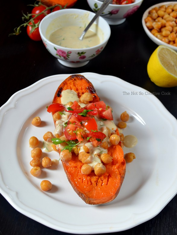 Mediterrenean Baked Sweet Potatoes - TNSCC 2