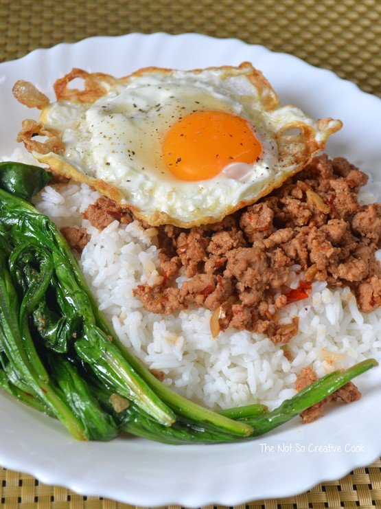 Sambal Minced Beef with Spinach - TNSCC 1