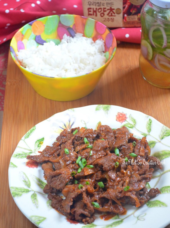 Spicy Korean Beef Stir-Fry – thenotsocreativecook
