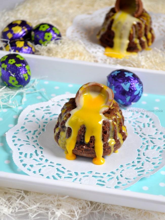 Creme Egg Lava Cakes 1