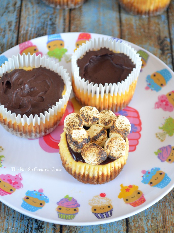 S'mores Cheesecake Cupcakes 2