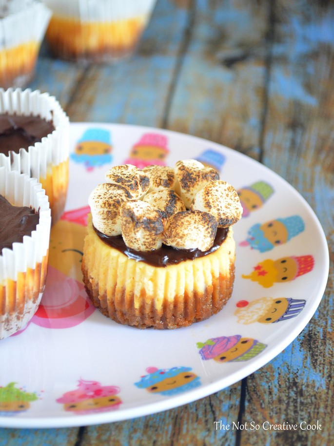 S'mores Cheesecake Cupcakes