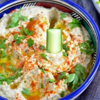 {Whole30} Baba Ganoush with Roasted Garlic