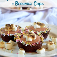 Hot Chocolate Cream in Brownie Cups